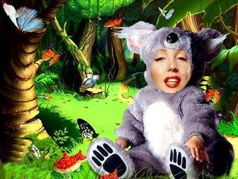 Online Montage Ihr Sohn als Koala