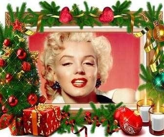 Ein Bilderrahmen, der braucht keinen Weihnachtsschmuck.