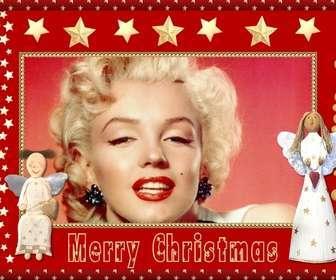 Weihnachten Bilderrahmen mit Engel und Sterne als Gruß zu senden.