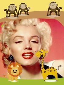 Kinder-Rahmen mit Tieren, mit Ihrem Foto zu personalisieren.
