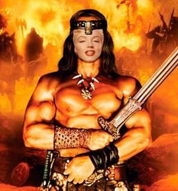 Setzen Sie Ihr Gesicht in diesem Online-Fotomontage von Conan der Barbar.