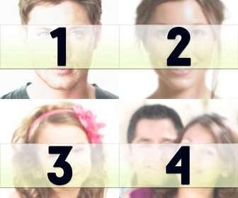 Machen Sie eine Collage mit 4 Bilder, die Sie als Profilbild verwenden können, oder Tapete Titelbild Facebook!