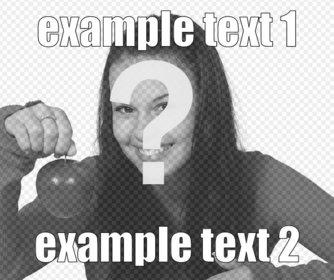 Schöpfer des Online-Meme mit Ihren Fotos machen. Setzen Sie den Text in ein Foto online.