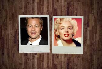 Collage für zwei Polaroid-Stil Fotos