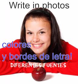 Schreiben Fotos online. Fügen Sie Text auf Fotos.