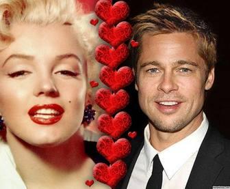 Collage, wo Sie zwei Fotos hochladen von Herzen geteilt