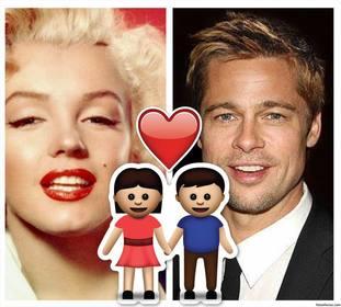 Freie Rahmen für zwei Fotos mit Emoji des Paares und ein Herz