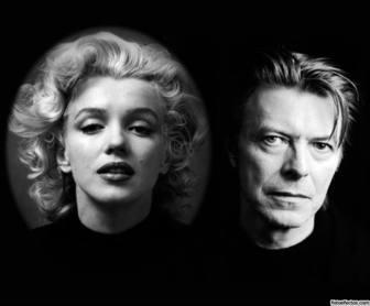 Photo-Effekt mit David Bowie bis lade ein Foto hoch