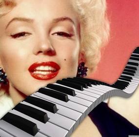 Dekorieren Sie Ihre Fotos Hinzufügen von ein Klaviertasten über sie