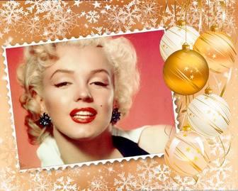 Setzen Sie Ihr Bild in einem Rahmen mit Weihnachtsschmuck dekoriert.