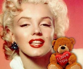 Profil-Foto mit einem Teddybär mit einem Herzen, um Ihr Facebook-oder Twitter-Profil Ihre anmelden.