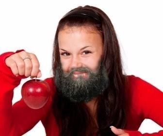 Fotomontage, um einen Bart auf dein Foto zu setzen.