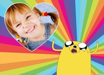 Bunte Foto-Effekt mit Jake the Dog of Adventure Time für Ihr Foto
