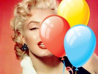 Aufkleber von bunten Luftballons Geburtstag Fotos zu schmücken.