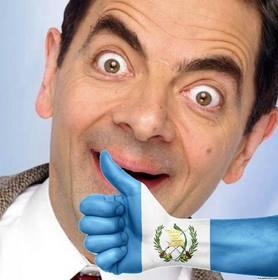 Hand mit der Flagge von Guatemala gemalt, wo Sie können Ihr Foto