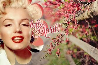 Frühling Wallpaper mit dem Text Hallo April!