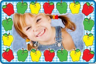 Online Bilderrahmen mit bunten Äpfel Ihre Fotos kostenlos
