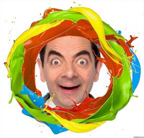 Rahmen eines Kreises Farben malen, wo Sie Ihr Foto