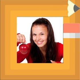 Kinder-Fotorahmen für Studenten mit der Kante wie ein Bleistift