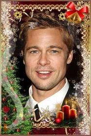 Weihnachtsbaum, Kerzen, buirnaldas und Glocken, um das Foto online besonders anfertigen.
