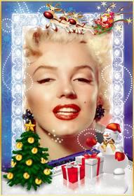 Free Christmas Vorlage, mit Ihrem Foto Online personalisieren.