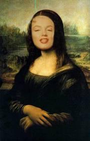 Fotomontage der Mona Lisa Gesicht online zu stellen