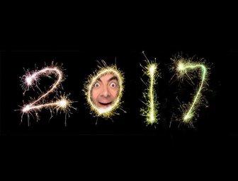 Effect Ihr Foto in der Null-2017 von Feuerwerk zu legen