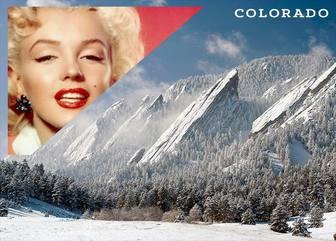 Postkarte von einer Landschaft von schneebedeckten Denver mit Ihrem Foto