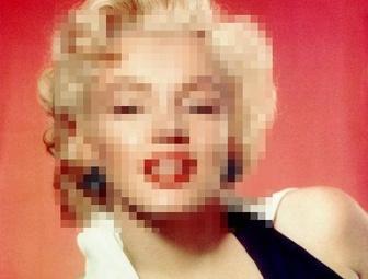 Versteckt Gesichter in Fotos online, Pixel Foto.