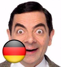 Dekorative Aufkleber auf eine Schaltfläche mit der Flagge von Deutschland