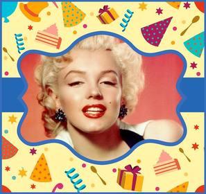 Bunte Online-Postkarte für eine Geburtstagsfeier.