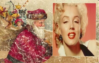 alte weihnachtskarte mit santa ihr foto hinzuf gen. Black Bedroom Furniture Sets. Home Design Ideas