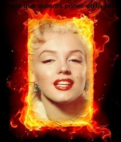 Foto-Montage von Feuer, die Sie mit Ihren Fotos online tun.