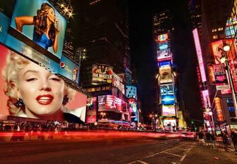 Broadway-Design, um das Bild zu setzen.