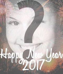 Feiern Sie das neue Jahr 2017 mit Feuerwerk-Filter für Ihre Fotos