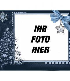 Klassische Weihnachtskarte, individuell mit einem Foto.