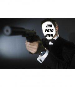 Fotomontage von James Bond (Daniel Craig) Fotomontage auf Ihr Foto auf James Bond setzen