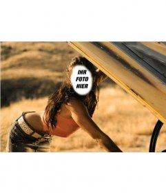 Fotomontage von Megan Fox in einer Szene ein Bild