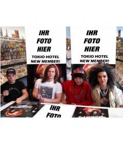 Collage, Ihr Foto in neues Mitglied von Tokio Hotel setzen