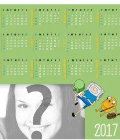 Kalender 2017 in Englisch mit einem Design von Adventure Time Ihr Foto