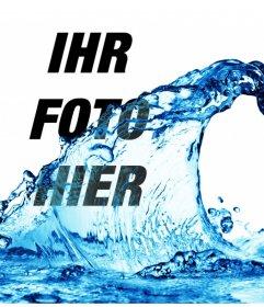 Effekt für Fotos, als würden sie einen Eimer Wasser in Ihrem Foto zu werfen