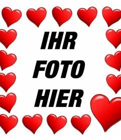 Herzen umgeben Ihr Foto mit dieser romantischen Effekt zu bearbeiten