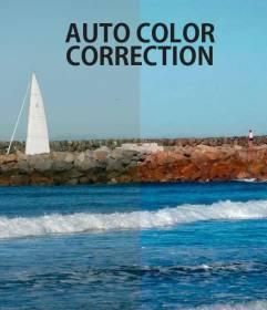 Automatische Korrektur von Farbe in Fotos online.