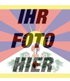 Foto-Filter von Tibet-Flagge, die Sie als Profilbild verwenden können