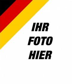 Setzen Sie die Flagge von Deutschland in der Ecke Ihrer Bilder