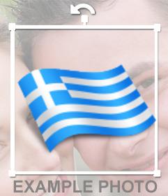 Griechenland Fahnenschwingen, um Ihre Fotos online mit unserem Online-Editor setzen