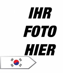 Fotomontage Online einen Pfeil mit der Flagge von Südkorea