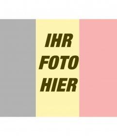 Belgien-Flagge auf dem Foto zu setzen