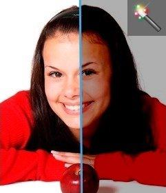 Sie können Ihre digitalen Fotos retuschieren zu hell, mit diesen Filter, um Bilder von Helligkeit zu entfernen, als Redakteur. Einfach ein Bild hochladen und bearbeiten Sie ihn von der Seite. Spielen mit anderen Effekten dieser Website.