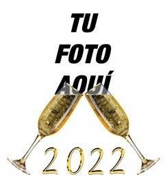 Wirkung, um 2018 mit Gläsern Champagner zu gratulieren